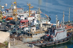 Warships of the Russian Navy Stock Photography