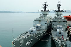 Warships  @Sattahip, Thailand Stock Image