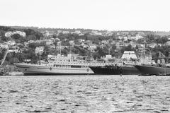 Warships in Sevastopol. Stock Photography