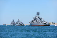 Warships in Sevastopol bay Stock Photography
