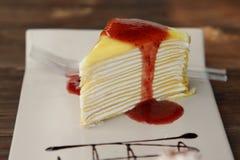 Warstwa biały Tort fotografia stock