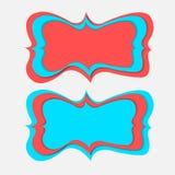 Rocznika sztandaru papieru cięcie Zdjęcie Stock