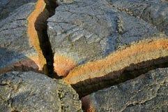 Warstwy lawa; Volcanoes parki narodowi, Hawaje Obraz Stock