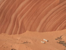 Warstwy na czerwonego piaskowa falezie obraz royalty free