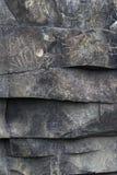 Warstwy powulkaniczna skała na wyspie madera Fotografia Stock