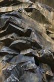 Warstwy powulkaniczna skała na wyspie madera Obrazy Royalty Free