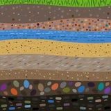 Warstwy ziemski abstrakcjonistyczny tło royalty ilustracja