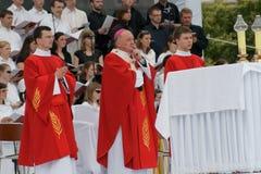 Warszaw, Poland - junho 06: Arcebispo Kazimierz Ny Fotos de Stock