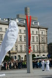 Warszaw, Polen - Juni 06: onthullende Ross in Pi? su Royalty-vrije Stock Fotografie