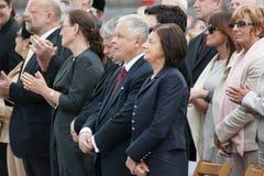 Warszaw, Polen - Juni 06: President van Polen Lec Stock Afbeelding