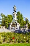 Warszawa Adam Mickiewicz staty Royaltyfria Bilder