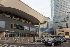 Warszawa Centralna järnvägsstation i Warszawa Royaltyfria Foton