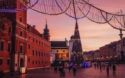 Warszawa. Christmas in Poland Royalty Free Stock Photography