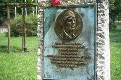 WARSZAWA - Czerwiec 6 2017 - Pamiątkowa dżuma generał Wladyslaw Anders Zdjęcie Royalty Free