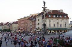 Warszawa den gamla fyrkanten för stadkunglig person, Polen Fotografering för Bildbyråer