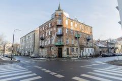 Warszawa`en s Praga, Polen Arkivfoton