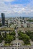 Warszawa från över arkivfoto
