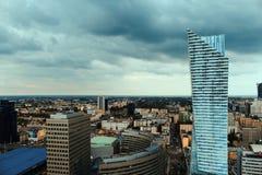 Warszawa från över Arkivfoton
