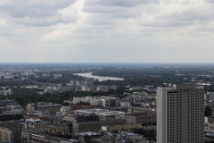 Warszawa från över royaltyfri bild