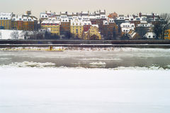 Warszawa gamla stad Arkivbild