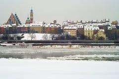 Warszawa gamla stad Fotografering för Bildbyråer