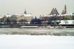 Warszawa gamla stad och kungliga slott Arkivbilder