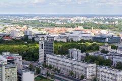 Warszawa od wysokiego punktu Zdjęcia Stock