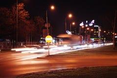 Warszawa på night_2 Royaltyfria Foton