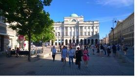 Warszawa. Pedestrians walking in central Warszawa Stock Images