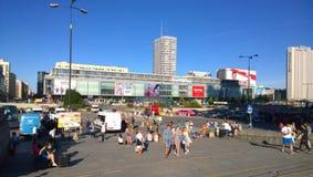 Warszawa. People walking in central Warszawa Stock Photo