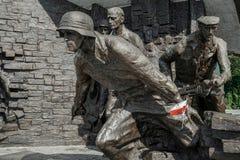 WARSZAWA POLAND/EUROPE - SEPTEMBER 17: Monument som polerar fighte Royaltyfria Foton