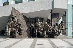 WARSZAWA POLAND/EUROPE - SEPTEMBER 17: Monument som polerar fighte Fotografering för Bildbyråer
