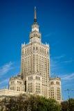 WARSZAWA POLAND/EUROPE - SEPTEMBER 17: Slott av kultur och Sci Royaltyfri Bild
