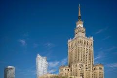 WARSZAWA POLAND/EUROPE - SEPTEMBER 17: Slott av kultur och Sci Fotografering för Bildbyråer