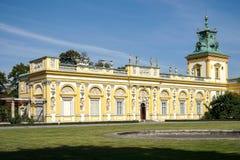 WARSZAWA POLAND/EUROPE - SEPTEMBER 17: Wilanow slott i Warszawa Royaltyfria Bilder