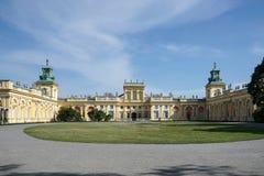 WARSZAWA POLAND/EUROPE - SEPTEMBER 17: Wilanow slott i Warszawa Royaltyfri Foto