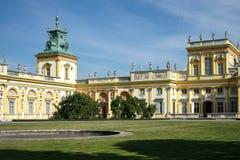 WARSZAWA POLAND/EUROPE - SEPTEMBER 17: Wilanow slott i Warszawa Royaltyfri Bild