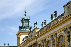 WARSZAWA POLAND/EUROPE - SEPTEMBER 17: Wilanow slott i Warszawa Arkivfoto