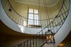 WARSZAWA, POLAND/EUROPE - WRZESIEŃ 17: Ślimakowaty schody przy W Obrazy Royalty Free