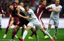 UEFA Euro 2020 draws Poland - Latvia stock images