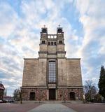 Warszawa Polen - April 14, 2016: Roman Catholic Parish av St Therese barnet Jesus Royaltyfria Foton