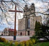 Warszawa Polen - April 14, 2016: Roman Catholic Parish av St Therese barnet Jesus Royaltyfri Fotografi