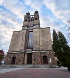 Warszawa Polen - April 14, 2016: Roman Catholic Parish av St Therese barnet Jesus Arkivfoton