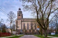 Warszawa Polen - April 14, 2016: Roman Catholic Parish av St Therese barnet Jesus Royaltyfri Bild