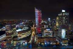 Warszawa Polen, Europa, December 2018, Zlotta 44 skyskrapa vid studion Libeskind royaltyfri bild