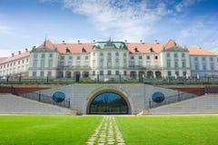 Warszawa Polen. Gammal stad - berömd kunglig slott. UNESCOvärld henne Royaltyfri Fotografi
