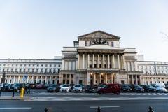 WARSZAWA POLEN - November, 2017: Är den historiska gamla staden för Warszawa` s den enda återställda staden som inskrivas på arve Royaltyfria Bilder