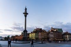 WARSZAWA POLEN - November, 2017: Är den historiska gamla staden för Warszawa` s den enda återställda staden som inskrivas på arve Arkivbild
