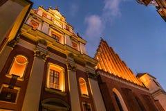 WARSZAWA POLEN - November, 2017: Är den historiska gamla staden för Warszawa` s den enda återställda staden som inskrivas på arve Royaltyfri Foto