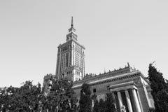 Warszawa, Polska †'Lipiec 21 2016: Pałac kultura i nauka Zdjęcie Royalty Free